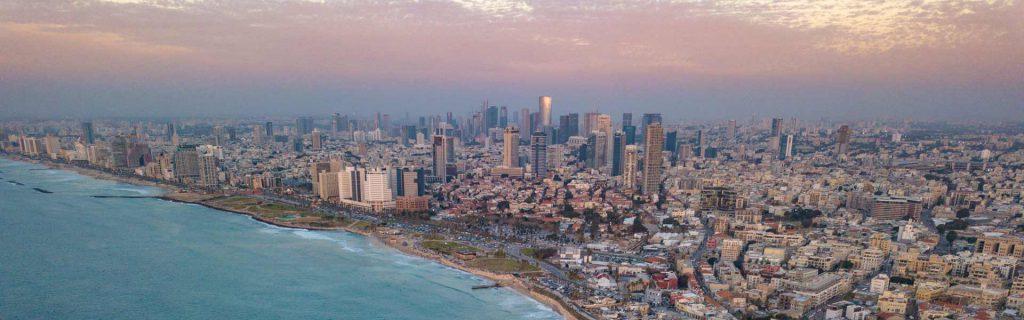 Blick auf Tel Aviv Strandpromenade